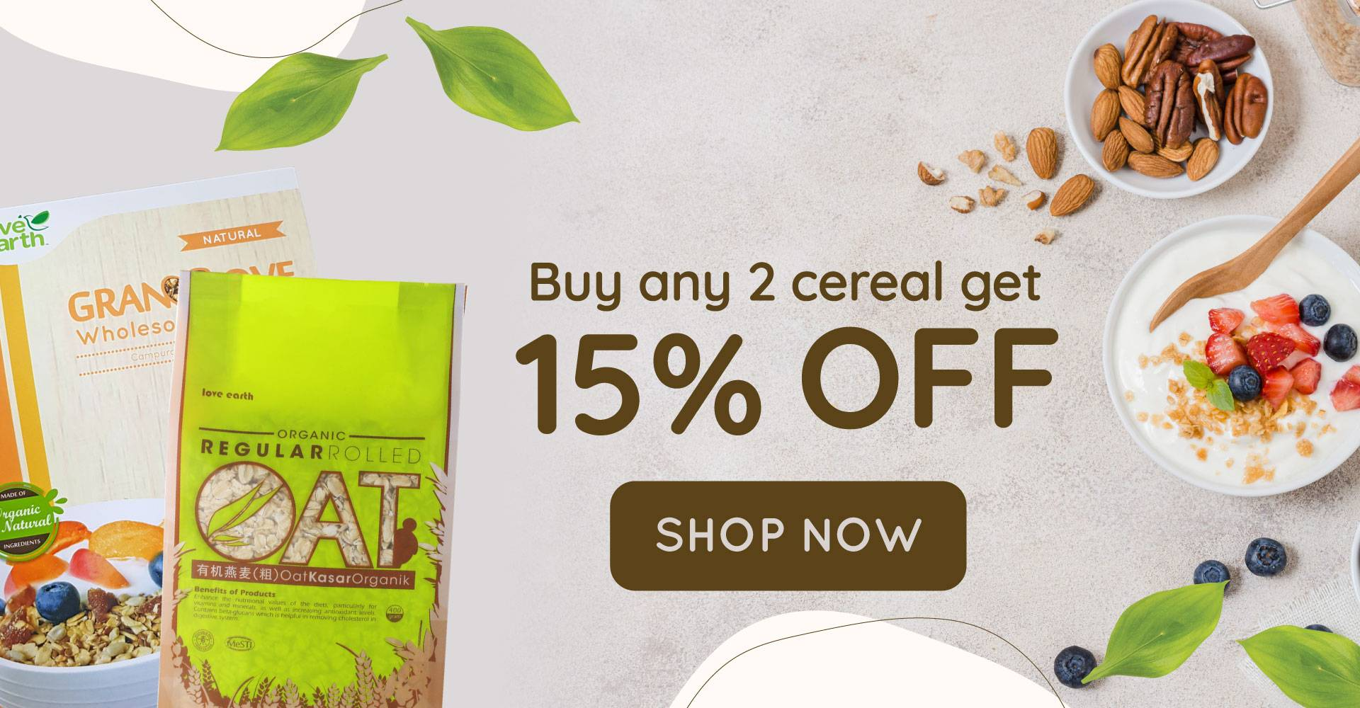 Cereal Buy Any 2 @ 15% Off