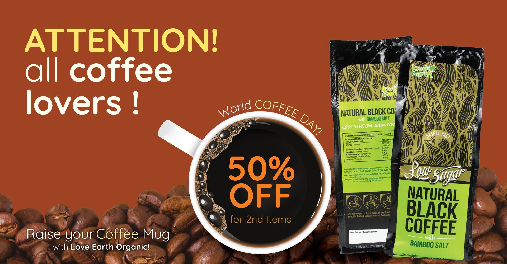 Coffee 2nd @50% Off