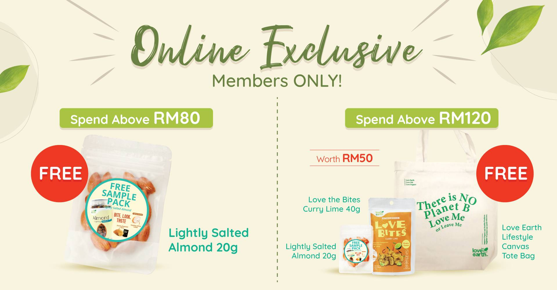 Love Earth Organic Online Exclusive