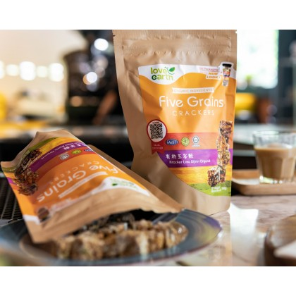 Organic Five Grain Cracker 100g