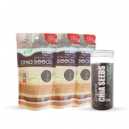 Organic Chia Seeds 202g x 3 (FOC 280g Bottle) Promo Pack
