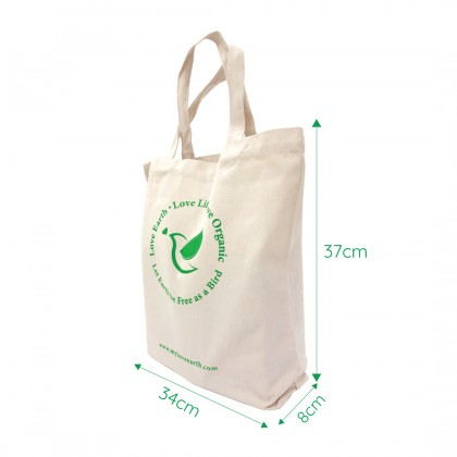 Love Earth Lifestyle Canvas Tote Bag
